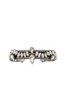 XEVANA Giselle Cuff in Oxidized Silver