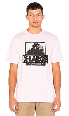 XLARGE OG Logo Tee in Pink
