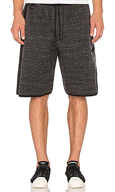 Y-3 Yohji Yamamoto Future SP Short in Dark Grey Melange