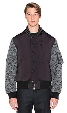 3L Wool Flight Jacket – 黑色,麻炭灰色
