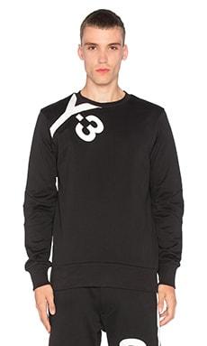 Y-3 Yohji Yamamoto Logo Sweater in Black