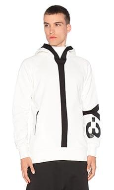 Y-3 Yohji Yamamoto Logo H Sweater in Core White