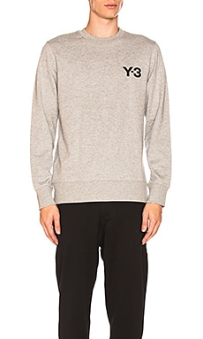 Y-3 Yohji Yamamoto Classic Crewneck in Medium Grey Heather