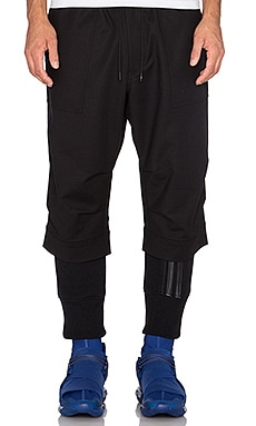 Y-3 Yohji Yamamoto Waffle Legging in Black