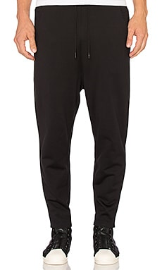 Y-3 Yohji Yamamoto 3 Stripes FT Easy Pant in Black