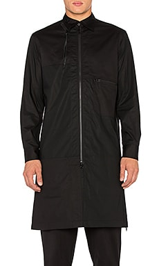Y-3 Yohji Yamamoto CO Long Shirt in Black