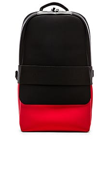 Y-3 Yohji Yamamoto Day Backpack ll in Black Roundel Red