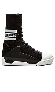 Y-3 Yohji Yamamoto Hayworth Guard Knit in Black White