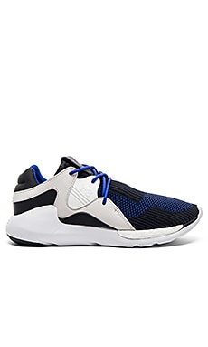Y-3 Yohji Yamamoto QR Knit Run in Electric Blue & Core Black & FTWR White