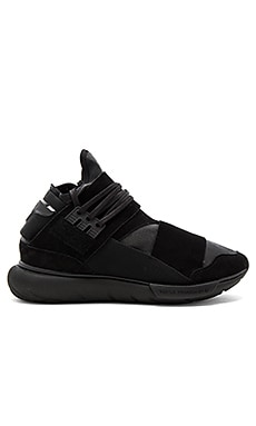 Y-3 Yohji Yamamoto Qasa Hi Leather in Core Black