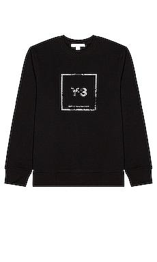 U Square Label Graphic Sweatshirt Y-3 Yohji Yamamoto $120
