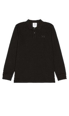 Pique Long Sleeve Polo Y-3 Yohji Yamamoto $120