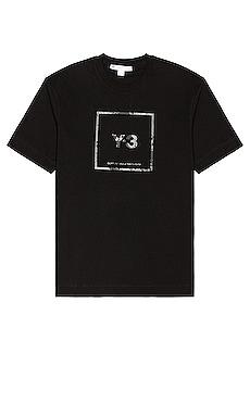U Square Label Graphic Tee Y-3 Yohji Yamamoto $100