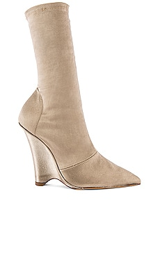 SEASON 8 Stretch Satin Wedge Ankle Boot YEEZY $432