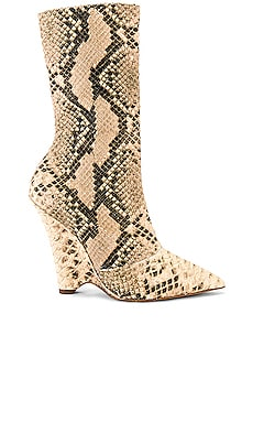 SEASON 8 Python Wedge Ankle Boot YEEZY $756