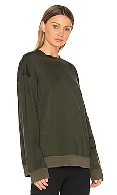 Plaited Jersey Crew Neck Sweater