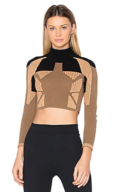 TOP CROPPED COL ROULÉ