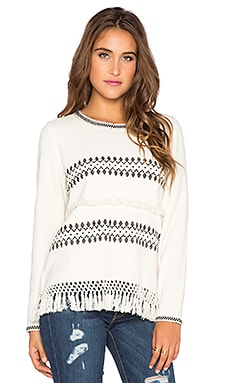 Yerse Embroidered Sweater in Nati