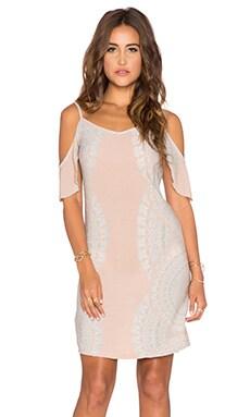 YIREH Mita Cold Shoulder Dress in Sundial