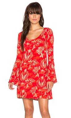 YIREH Maize Bell Sleeve Dress in Songbird