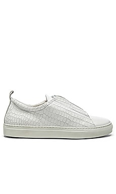 YLATI Nerone Low in White Croc Leather