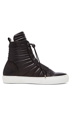 YLATI: NERO Giove Hi W in Black Leather