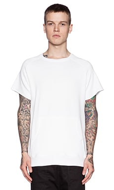 Youth Machine Standard Cut Off Sweatshirt in White