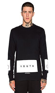 Youth Machine Civic L/S Tee in Black