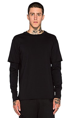 Youth Machine Standard L/S Heavy Tee in Black