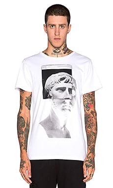Youth Machine Ruins S/S Tee in White