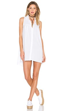 YORK street Sleeveless Shift Dress in White