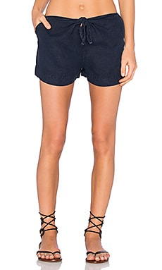 YORK street Tie Front Short in Midnight