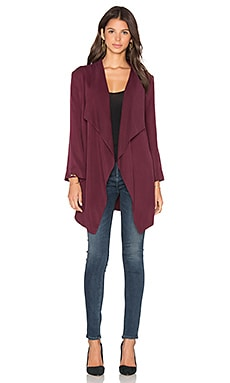YORK street Cascade Trench Cardigan in Mahogany