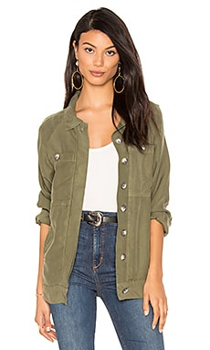 Long Slouchy Jacket in Army