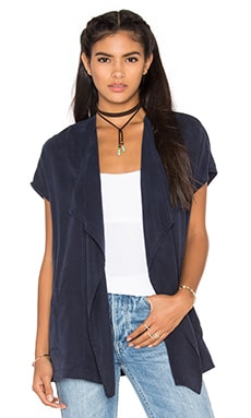 YORK street Wrap Vest in Midnight
