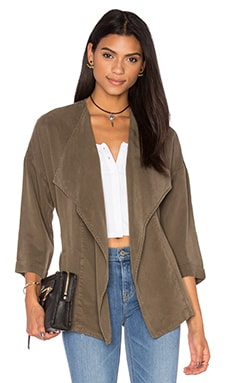Wrap Blazer in Military