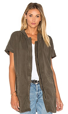 Hooded Poncho in Cadet