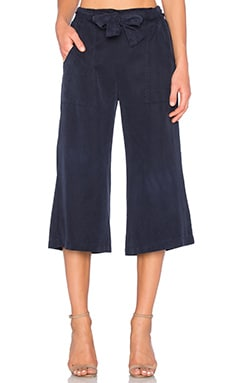 YORK street High Waisted Gaucho in Midnight