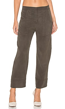 YORK street High Waisted Chino Pant in Cadet