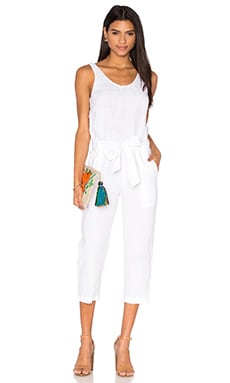 YORK street Cropped Pantsuit in White