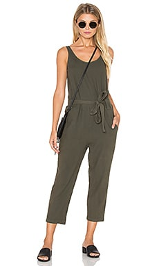 Cropped Pant Suit in Cadet