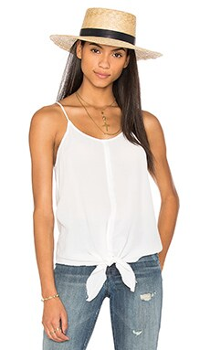 YORK street Tie Front Cami in White
