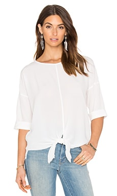 YORK street Tie Front Blouse in White
