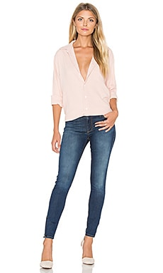 YORK street Perfect Boyfriend Button Up in Mauve
