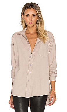 Perfect Boyfriend Button Up en Sable