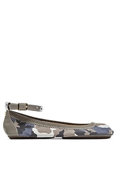 Yosi Samra Abbey Washed Camo Flats in Chambray
