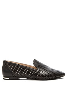 Yosi Samra Preslie Perforated Loafers in Black