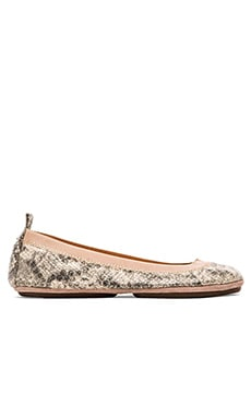Yosi Samra Samara Dusty Metallic Flat in Powder Pink
