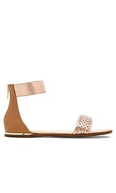Yosi Samra Cambelle Sandal in Rose Gold & Sienna