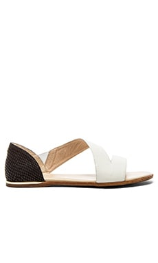 Yosi Samra Casey Crossover Sandal in White & Black